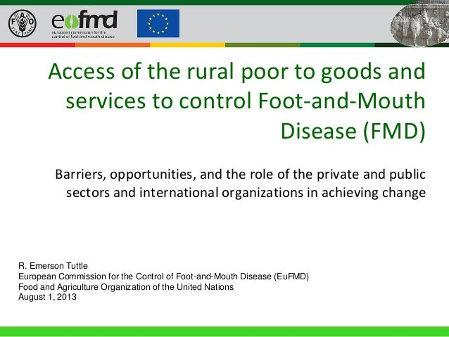 40th General Session of the EuFMD • 22-24 April 2013, Rome (Italy) Access of the rural poor to goods and services to contr...