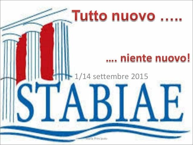 1/14 settembre 2015 Maria Principato