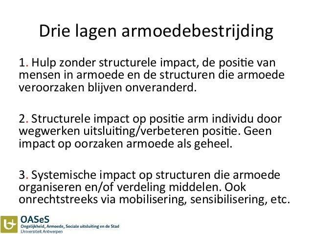 Drie  lagen  armoedebestrijding   1.  Hulp  zonder  structurele  impact,  de  posi3e  van   mensen ...