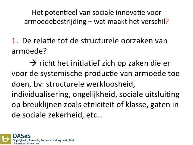 Het  poten3eel  van  sociale  innova3e  voor   armoedebestrijding  –  wat  maakt  het  verschil?  ...