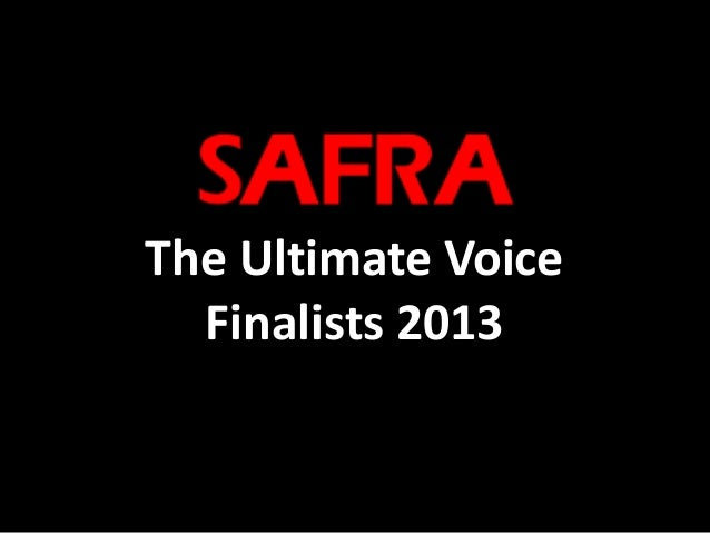 The Ultimate Voice Finalists 2013
