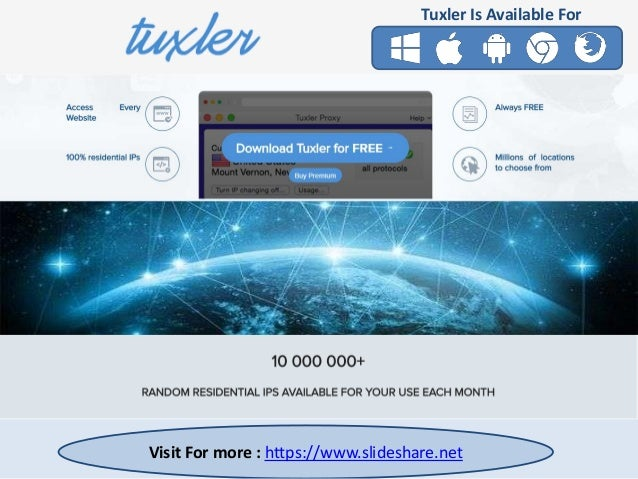 Free Residential VPN with millions of IPs available | Tuxler