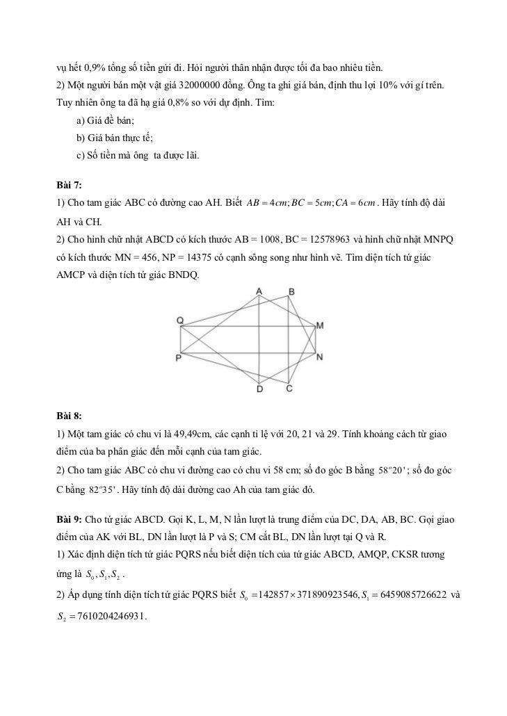 Bài 10: Cho đa thức f ( x) = x 5 + x 2 + 1 có năm nghiệm x1 , x2 , x3 , x4 , x5 . Kí hiệu p ( x) = x 2 − 81Hãy tìm tích P ...