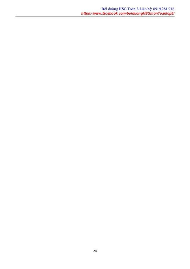 Bồi dưỡng HSG Toán 3-Liên hệ: 0919.281.916 https://www.facebook.com/boiduongHSGmonToanlop3/ 24