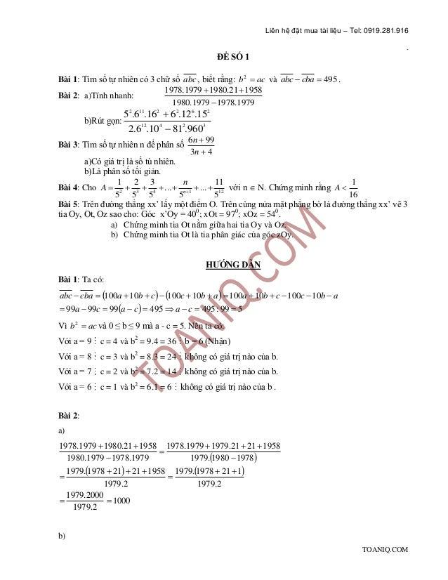 Tuyển tập 100 đề luyện thi Học sinh giỏi Toán lớp 6 (có đáp án) Slide 2