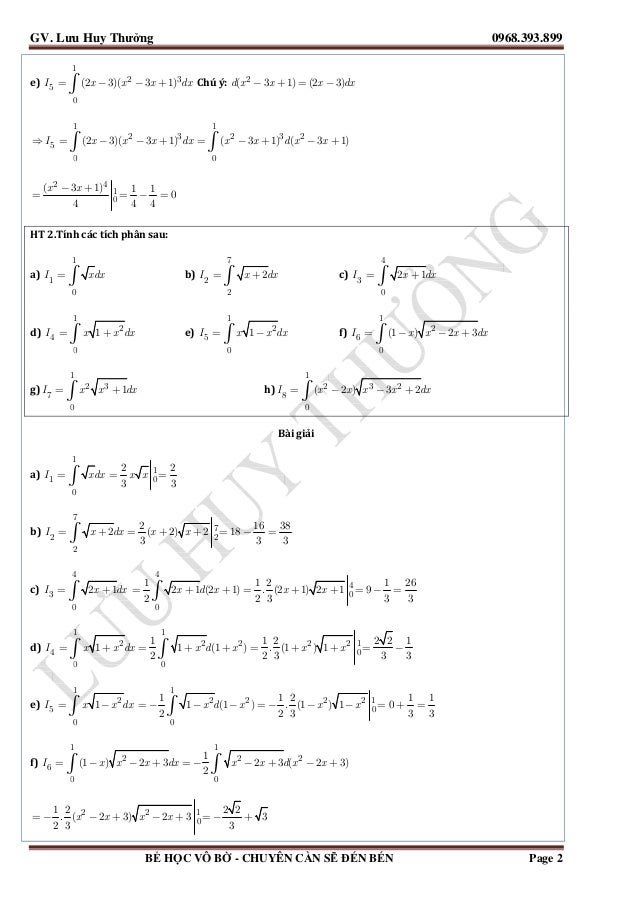 Tuyển tập tích phân luyện thi đại học 2014 [đáp án chi tiết] Slide 3