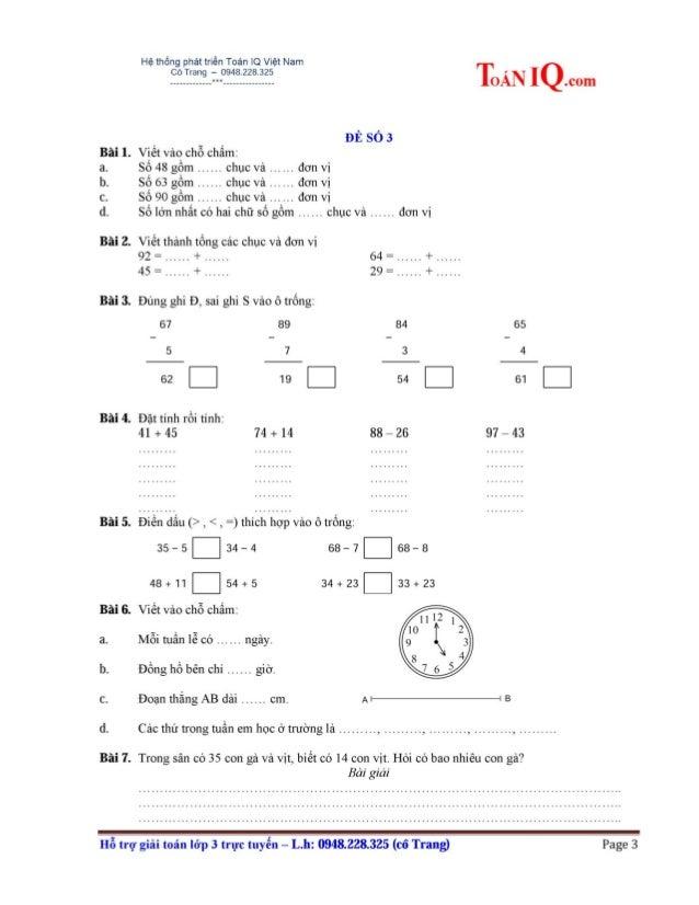Tuyển tập đề thi HKII lớp 1 môn TOÁN (25 đề) + TV (37 đề) Slide 3