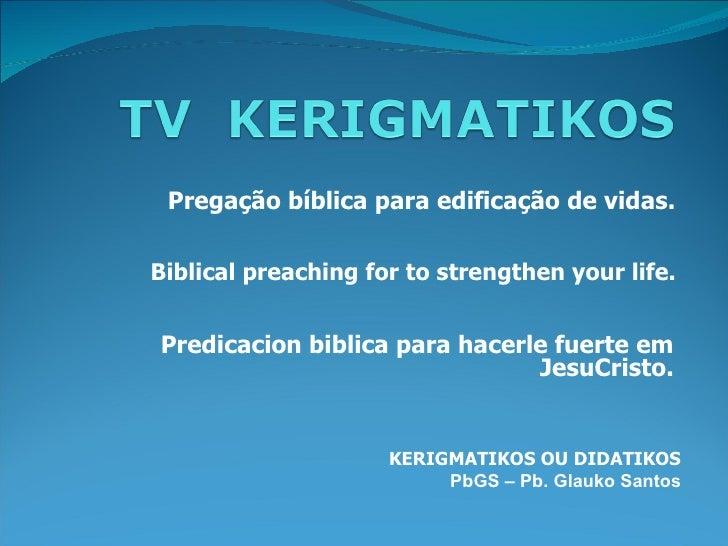 Pregação bíblica para edificação de vidas.Biblical preaching for to strengthen your life.Predicacion biblica para hacerle ...