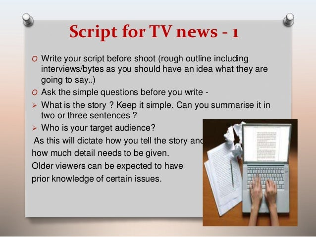 how to write a news bulletin script