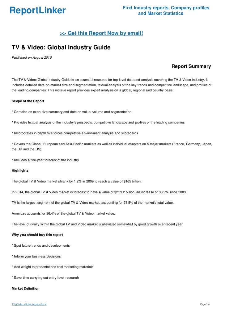 Find Industry reports, Company profilesReportLinker                                                                     an...