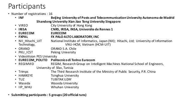 Participants • Numberofregistrations:16 • INF BeijingUniversityofPostsandTelecommunicationUniversityAutonoma de...
