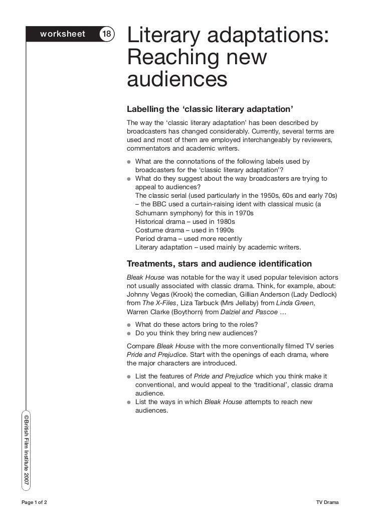 TV drama worksheets – Drama Terms Worksheet