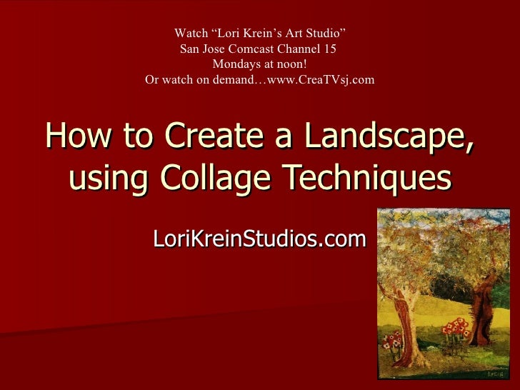Tv 4 how to create a collage landscape How to landscape