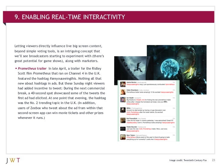 9. ENABLING REAL-TIME INTERACTIVITYLetting viewers directly influence live big-screen content,beyond simple voting tools, ...
