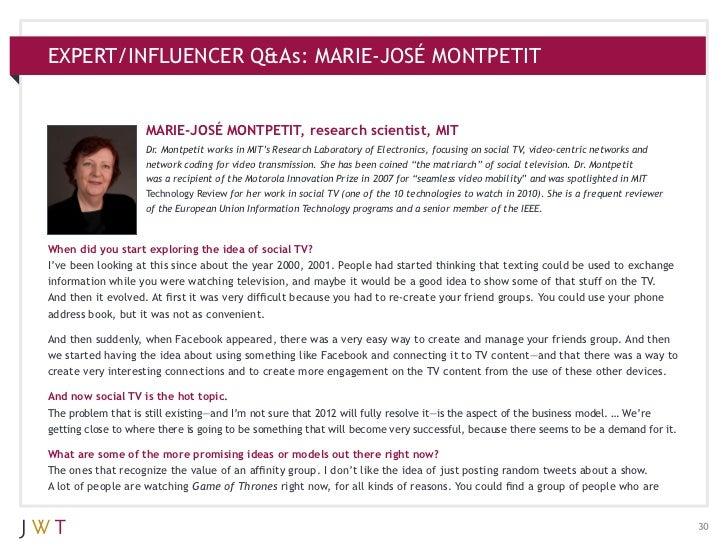 EXPERT/INFLUENCER Q&As: MARIE-JOSÉ MONTPETIT                    MARIE-JOSÉ MONTPETIT, research scientist, MIT             ...