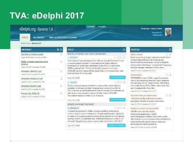 TVA: eDelphi 2017