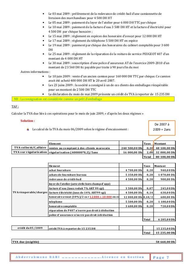 • Le 03 mai 2009 : prélèvement de la redevance de crédit-bail d'une camionnette de livraison des marchandises pour 4 500 D...