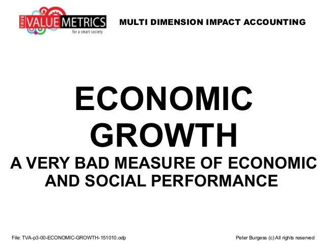 MULTI DIMENSION IMPACT ACCOUNTING ECONOMIC GROWTH A VERY BAD MEASURE OF ECONOMIC AND SOCIAL PERFORMANCE File: TVA-p3-00-EC...