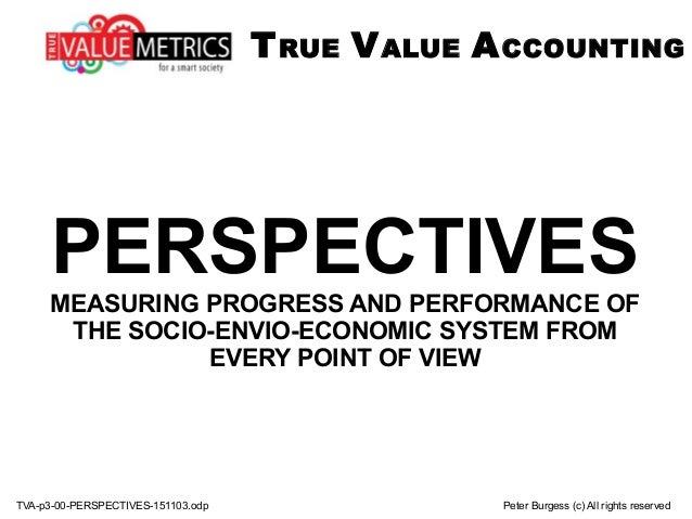 TVA-p3-00-PERSPECTIVES-151103.odp Peter Burgess (c) All rights reserved PERSPECTIVESMEASURING PROGRESS AND PERFORMANCE OF ...