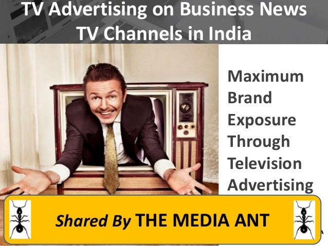 Tv advertising in business news channels of india