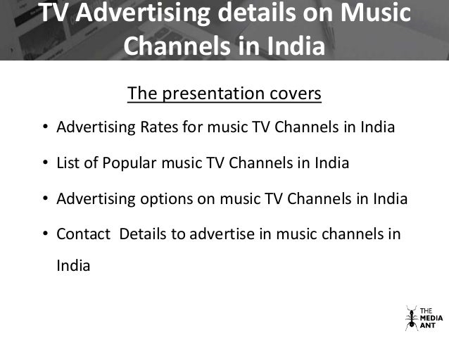 Tv advertising india in music channels