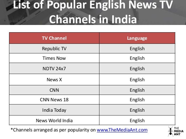 Upcoming Tv Channels In India