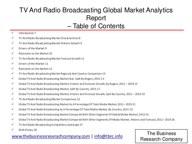 an analysis of tv and radio in the world A full directory of radio, television, magazines and newspapers in the world, with industry news, jobs, discussion, information and analysis.