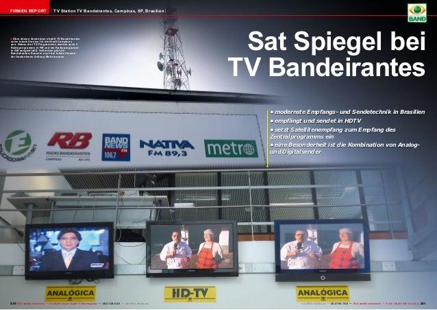 FIRMEN REPORT                        TV Station TV Bandeirantes, Campinas, SP, Brasilien■ Über diesen Sendeturm strahlt TV...