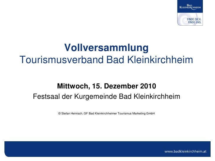 Vollversammlung TVB Bad Kleinkirchheim 2010