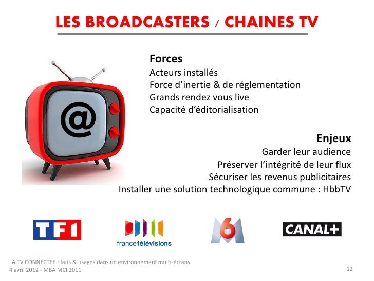LES BROADCASTERS / CHAINES TV                                                   Forces                                    ...
