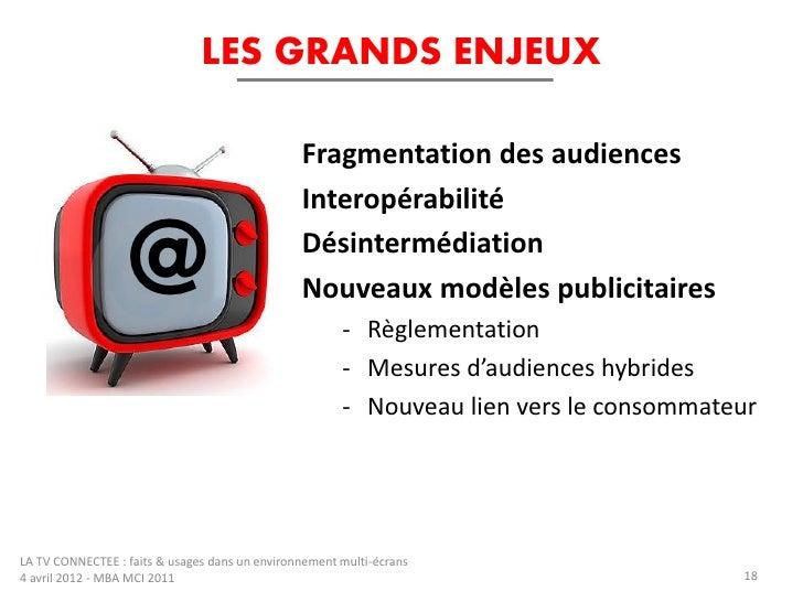 LES GRANDS ENJEUX                                                Fragmentation des audiences                              ...