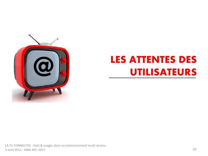 LES ATTENTES DES                   @                                                      UTILISATEURSLA TV CONNECTEE : fa...