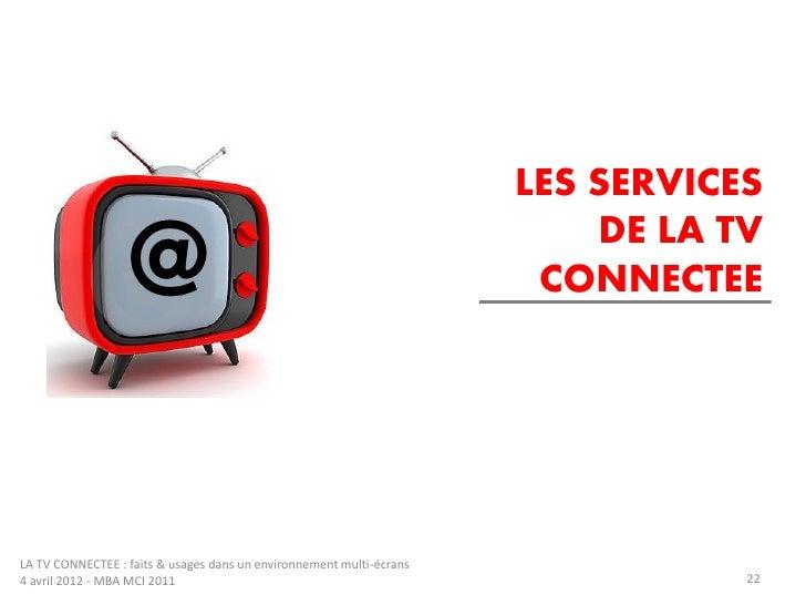 LES SERVICES                                                                          DE LA TV                   @        ...