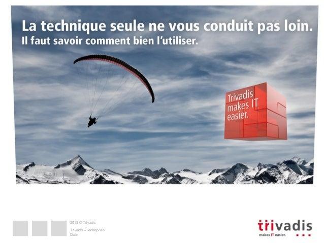 2013 © Trivadis  Trivadis – l'entreprise Date