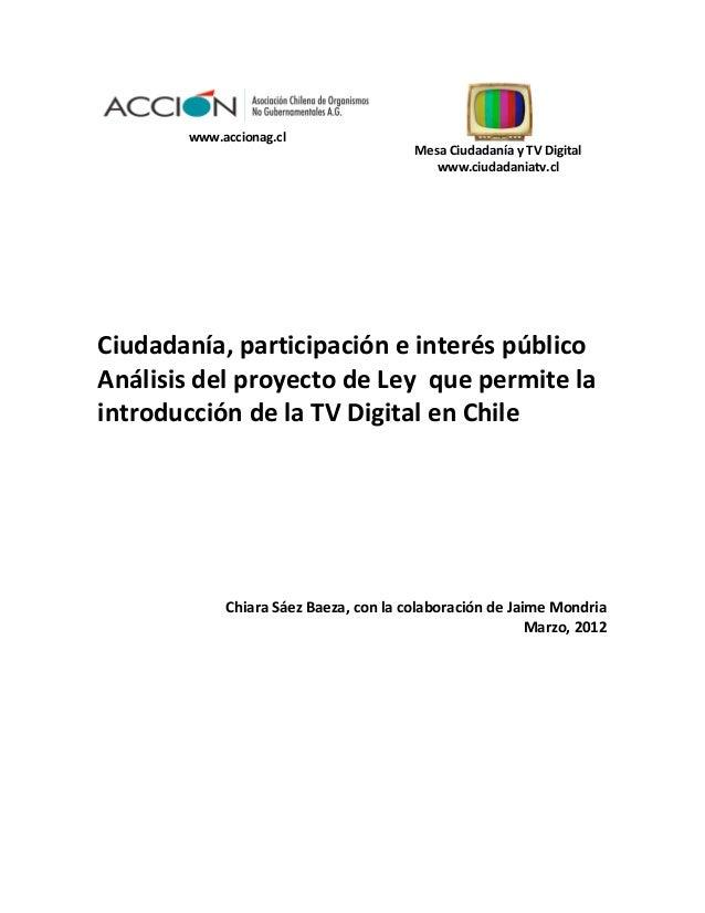 www.accionag.cl                                                           Mesa Ciudadanía y TV Digita...