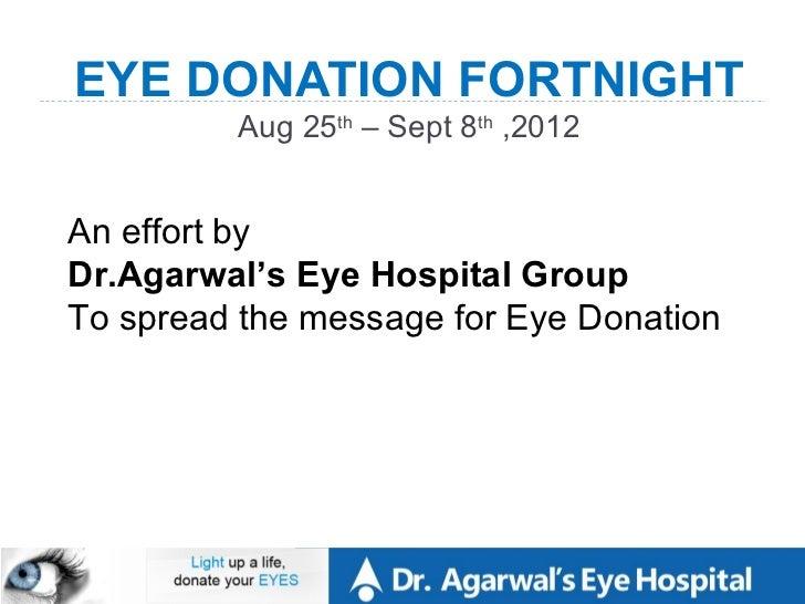EYE DONATION  Slide 2