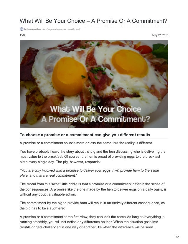 Trouble with commitment