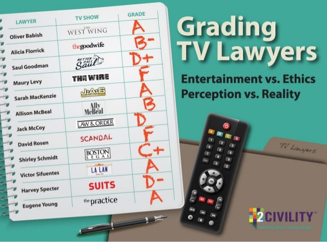 Grading TV Lawyers: Entertainment vs. Ethics, Perception vs. Reality