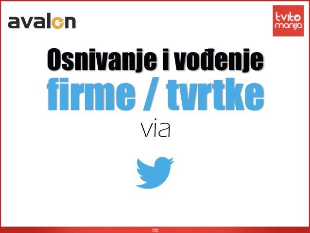 viafirme / tvrtkeOsnivanje i vođenje