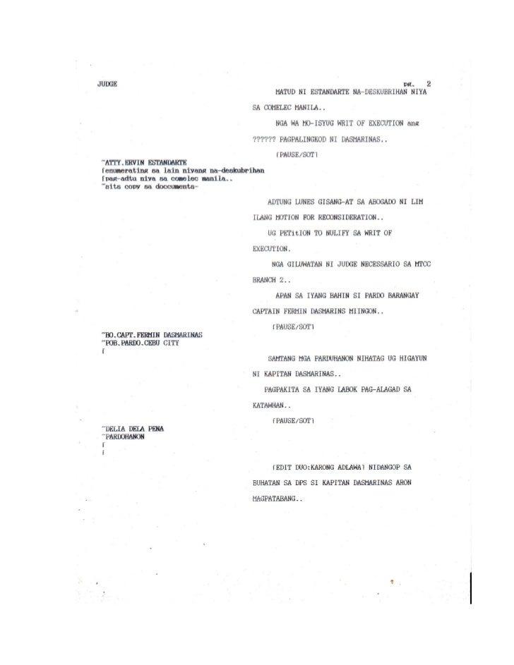 Tv news script formats & sample scripts