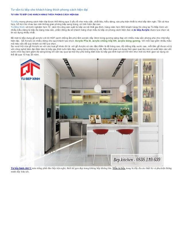 Tư vấn tủ bếp cho khách hàng thích phong cách hiện đại TƯ VẤN TỦ BẾP CHO KHÁCH HÀNG THÍCH PHONG CÁCH HIỆN ĐẠI Tủ bếp mang ...