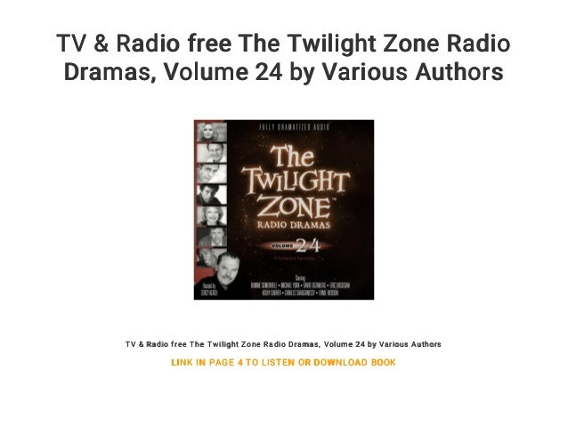 TV & Radio free The Twilight Zone Radio Dramas    Volume 24