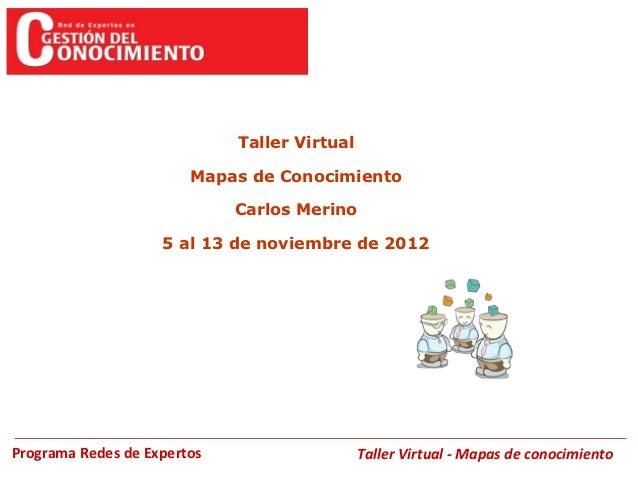 Taller Virtual                        Mapas de Conocimiento                             Carlos Merino                    5...