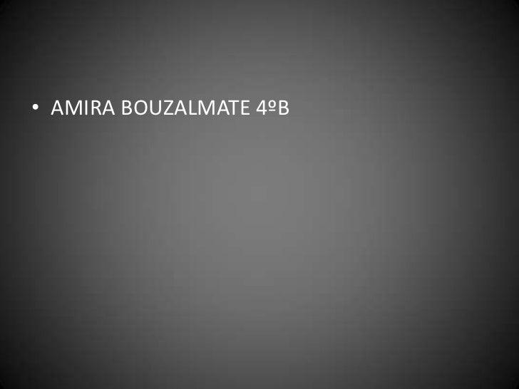 • AMIRA BOUZALMATE 4ºB