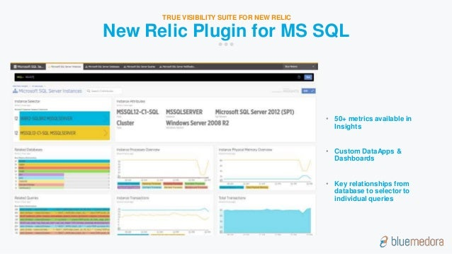 Overview of blue medora new relic plugin for microsoft sql server new relic insights for microsoft sql server 6 sciox Choice Image