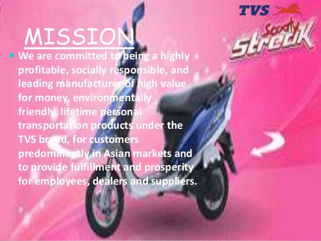 marketing and sales strategy of tvs motors Tvs motor company limited is a part of tvs group the above company fundamental report is a half-ready report and contents are subject to change it means that we have all necessary data in our database to prepare the report but need 2-3 days to complete it.