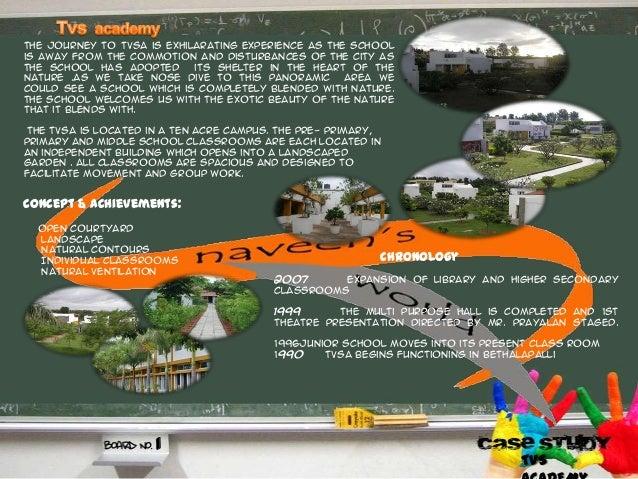 Chronology Concept & achievements: Open courtyard Landscape Natural contours Individual classrooms Natural ventilation 200...