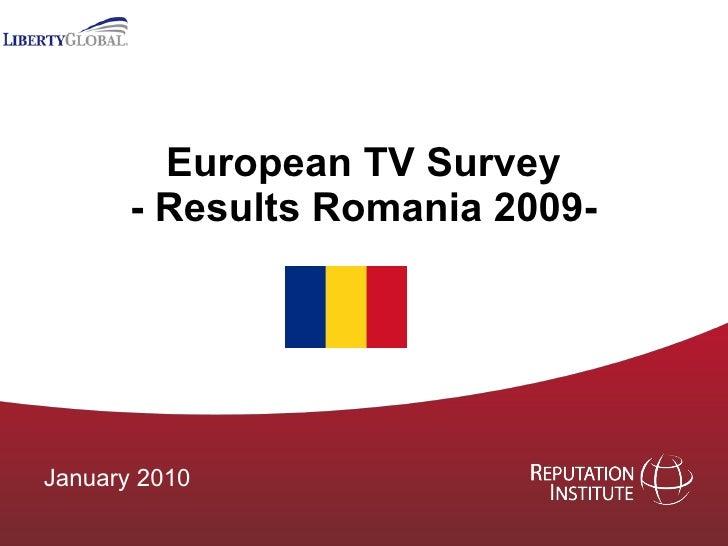 European TV Survey - Results Romania 2009- January 2010