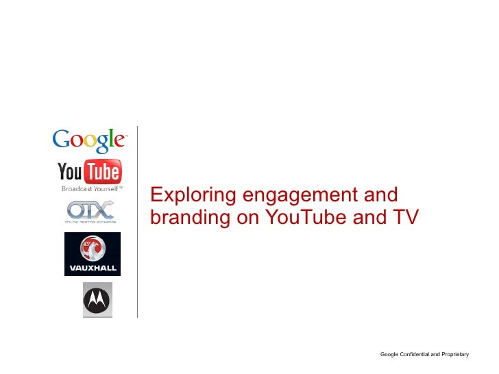 Exploring engagement and branding on YouTube and TV