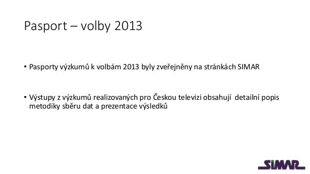 Stranické preference a volební model v září 2013